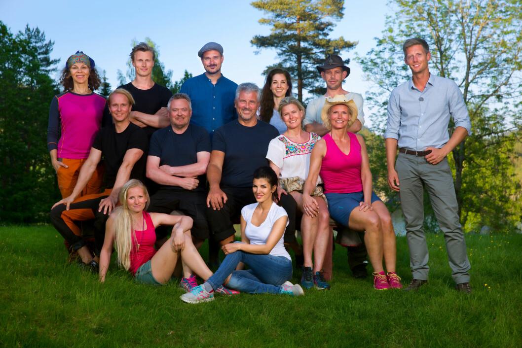 KJENDIS FARMEN: Petter Pilgaard og Vendela Kirsebom møttes under innspillingen av sesong 1 av Kjendis Farmen. Foto: TV 2
