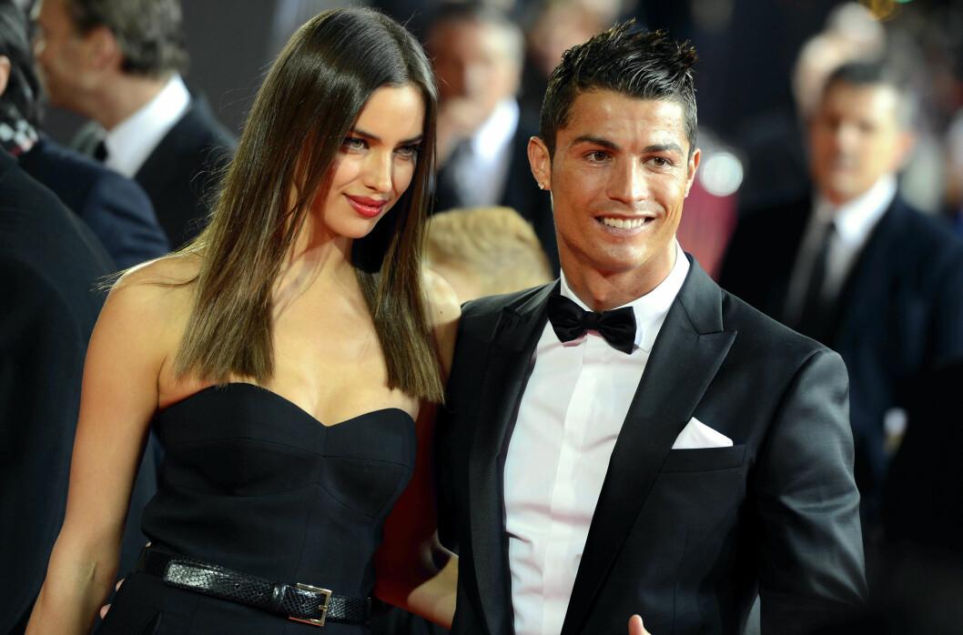 EKSEN: Cristiano Ronaldo var sammen med den russiske modellen Irina Shayk i fem år før det ble slutt i 2015. Dette bildet er tatt i 2013.  Foto: NTB Scanpix