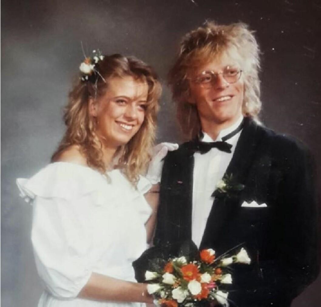 NYFORELSKET OG NYGIFT: Bryllupet sto i september 1987, etter kun noen dager som kjærester. Foto: Privat