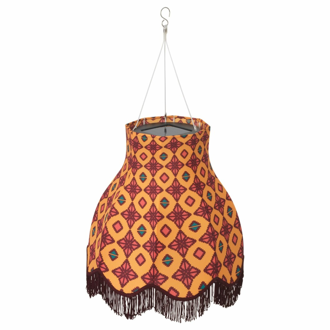 Solvinden solcellependel til utendørs bruk, fra Ikea │kr 298 │ Foto: utelampe, lykt