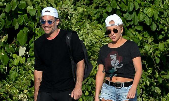 SPORTY: Christian Carino og Lady Gaga er flere ganger blitt observert på blant annet skogsturer sammen. Foto: NTB Scanpix