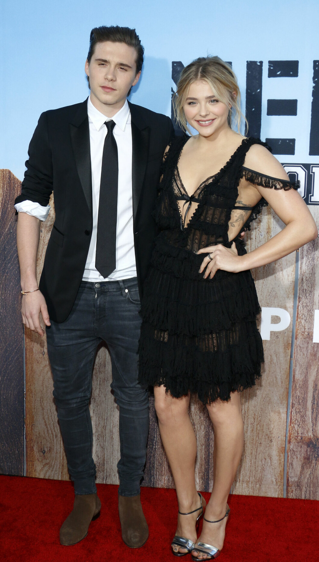 <strong>BRUDD:</strong> I mai i år bekreftet skuespiller Chloë Grace Moretz og Brooklyn Beckham at de to var et par etter at de hadde datet siden august 2014. Bare fire måneder var romansen over. Foto: NTB Scanpix