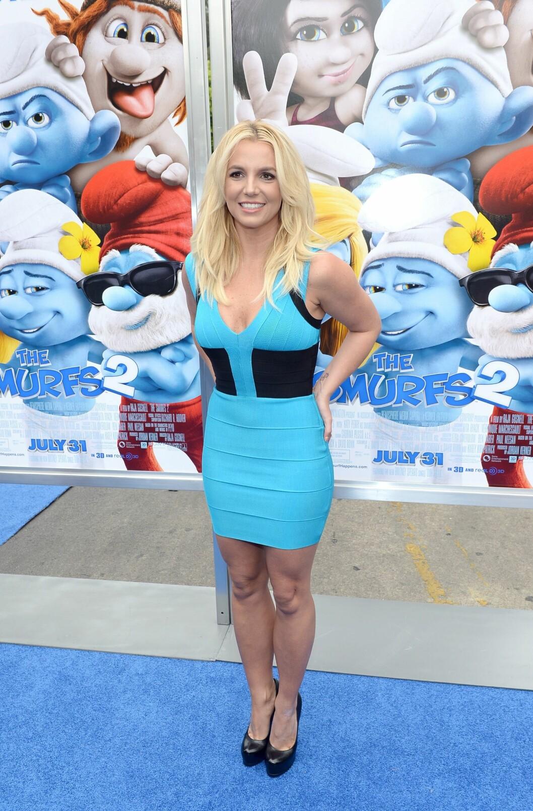 <strong>2013:</strong> Britney under premieren av filmen «The Smurfs 2». Foto: Afp