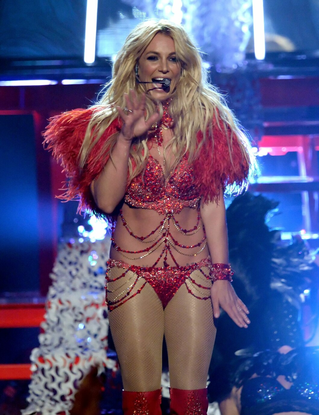 <strong>2016:</strong> Britney Spears opptrer på Billboard Music Awards i Las Vegas. Foto: Afp