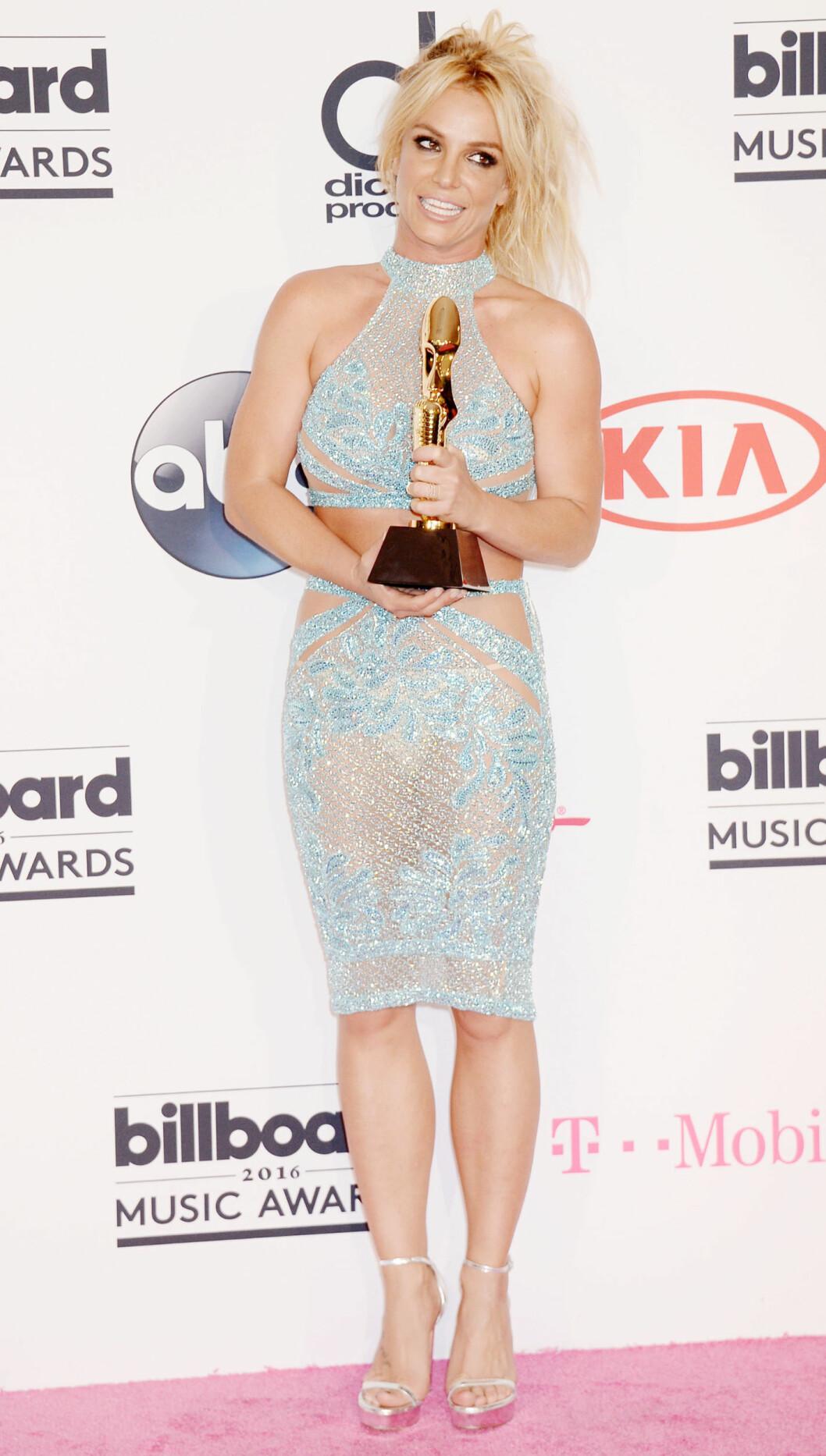<strong>2016:</strong>  Britney Spears under Billboard Music Awards. Foto: Broadimage
