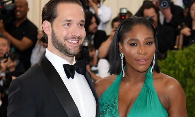 NYGIFT: I november giftet Serena Williams seg med Reddit-grunnleggeren Alexis Ohanian. Foto: NTB scanpix