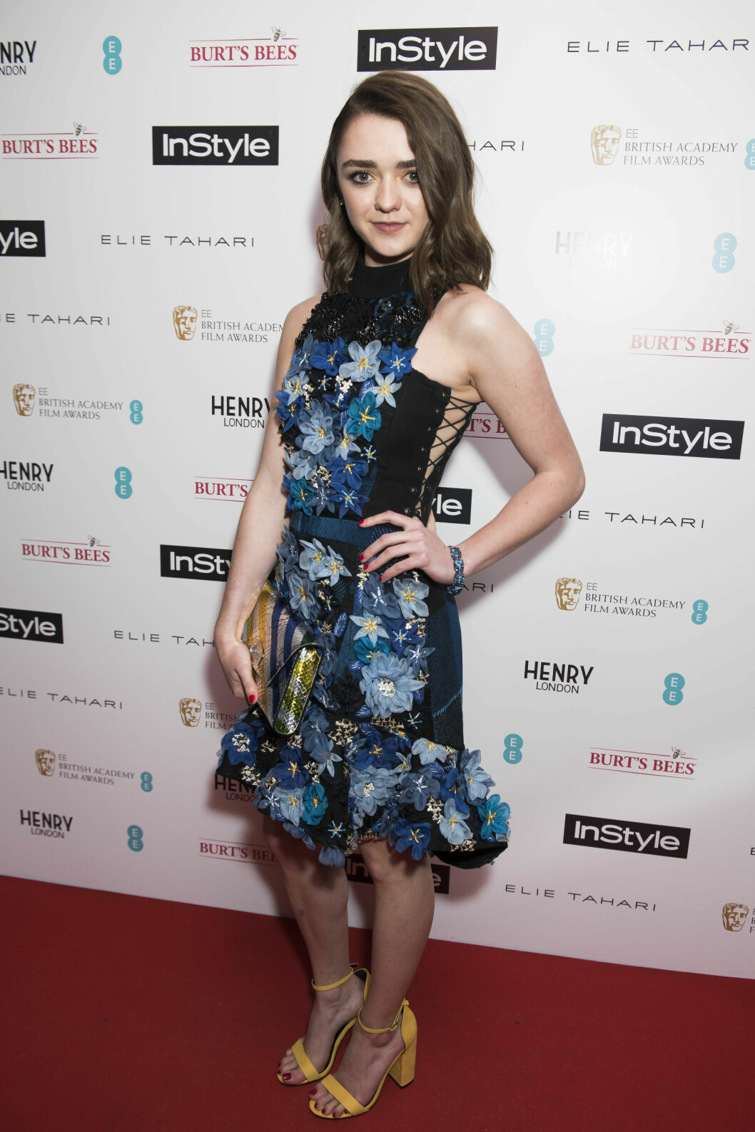 Maisie på InStyle EE Rising Star party i London.  Foto: Pa Photos
