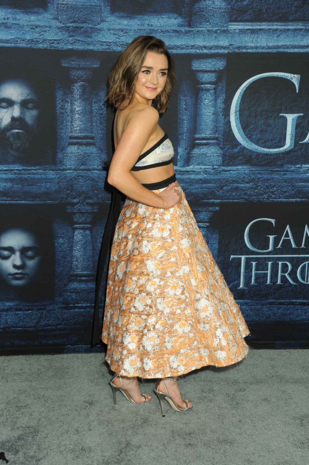 Maisie deltar på HBOs Game of Thrones sesong 6 premiere.  Foto: SipaUSA
