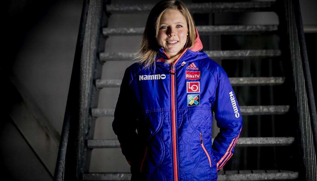 <strong>SEIER:</strong> Maren Lundby vant kvinnes hoppkonkurranse. Dermed ble det dobbeltseier for Toten. Foto: Bjørn Langsem / Dagbladet