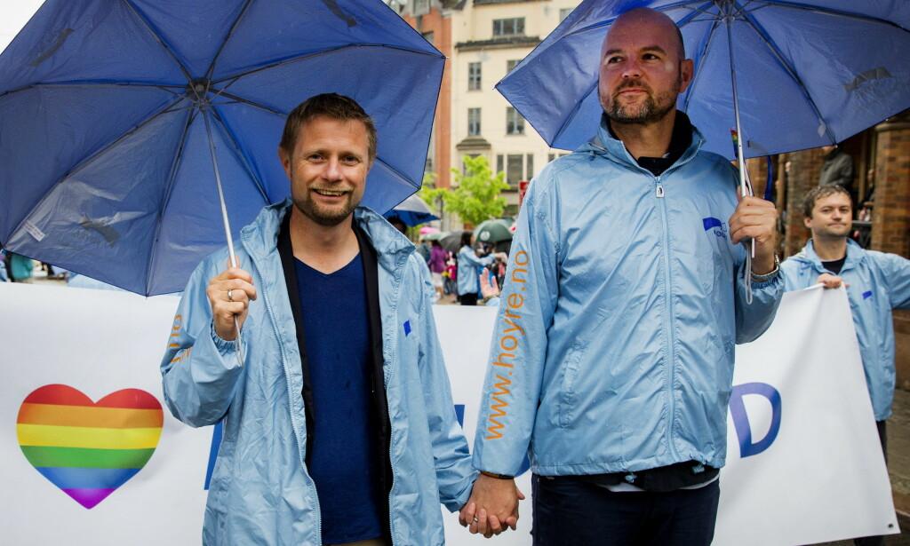 MARINEN: Bent Høie og Dag Terje Klarp Solvang møttes i marinen, og det tok tid før de begynte å date. Foto: NTB scanpix