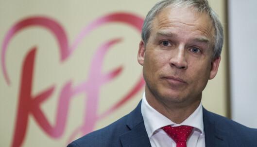 <strong>STATSRÅD:</strong> Hans Olav Syversen kan få comeback i politikken når KrF nå går inn i regjering. Han kan gå inn på flere poster. Foto: Berit Roald / NTB scanpix