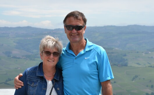 FELLES DRØM: Stein og Hilde planla i nærmere fem år før de flyttet til  Nord-Italia og Piemonte. Foto: Privat