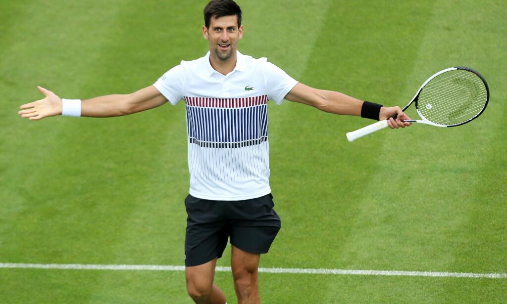 IKKE I TOPPFORM: Novak Djokovic er utenfor topp to på verdensrankingen for første gang siden 2011. Selv er han klar over at han ikke spiller på sitt beste. Foto: James Marsh/BPI/Shutterstock/REX/Shutterstock