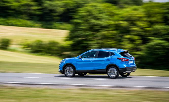 <strong>FREKK DESIGN:</strong> Nissan har hele tiden valgt å kalle den en crossover. Kall den hva du vil, men den høyreiste stasjonsvogna, eller SUV-en, har i allefall slått an. Foto: Nissan