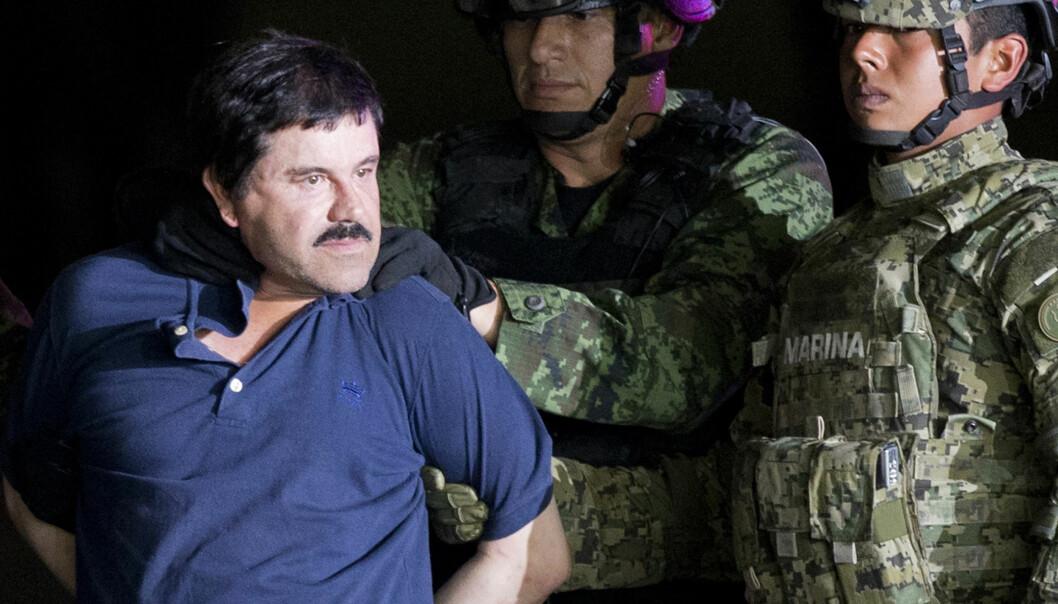 <strong>UTLEVERT:</strong> Han var lenge karakterisert som USAs «folkefiende nummer én siden Al Capone», men i januar i år ble han utlevert til USA fra Mexico. Foto: AP Photo / Eduardo Verdugo / NTB scanpix