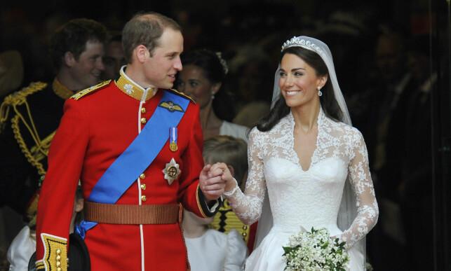 IKKE PRINSESSE: Man skulle kanskje tro at hertuginne Kate også var prinsesse, men det stemmer ikke. Det vil hun aldri bli, i hvert fall ikke i offisiell forstand. Foto: NTB scanpix