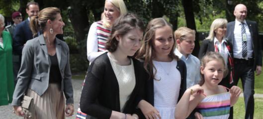 Barnebarna hyllet dronning Sonja