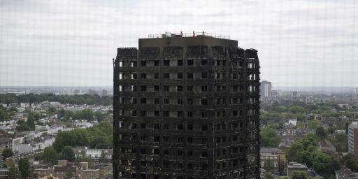 image: Mays regjering vil gi 12 måneders amnesti til Grenfell-beboere. Labour kaller det «grotesk»