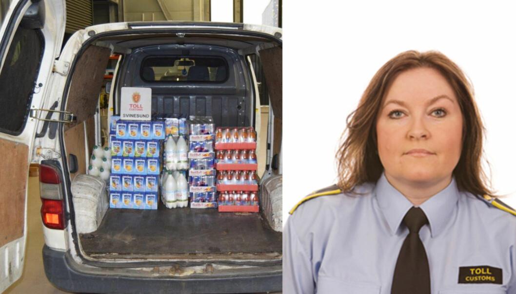BLE TATT: Senest i juni i år ble den hvite varebilen stoppet ved Svinesund. - Vi har noen gjengangere, bekrefter Elisabeth Nettum i Tolldirektoratet. Foto: Tolletaten