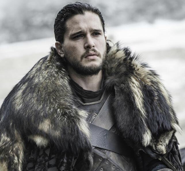 INSPIRASJONSKILDE: Erna Solberg har valgt å la seg inspirere av Jon Snow, kjent fra den populære serien «Game of Thrones». Foto: HBO Nordic