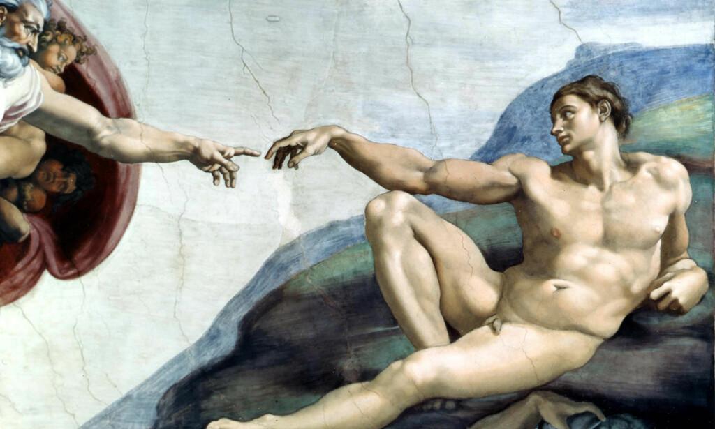 AKKURAT SLIK: De mest ihuga kreasjonistene mener mennesket ble skapt akkurat slik som det beskrives i Bibelen. Foto: AP / Scanpix.