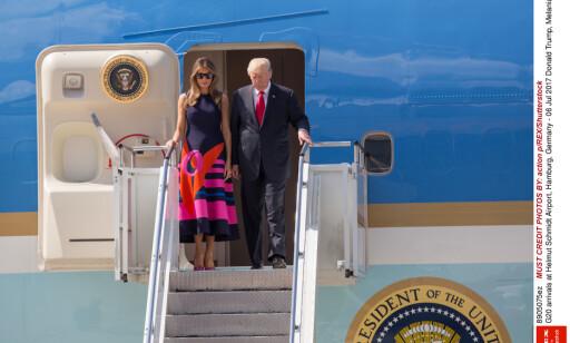 HAMBURG: Donald og Melania Trump ankom Hamburg i går. Foto: Action P/rex/shutterstock