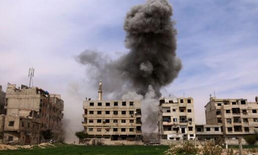 MER BOMBING: Også her i Øst-Ghouta. Foto: AFP / NTB Scanpix