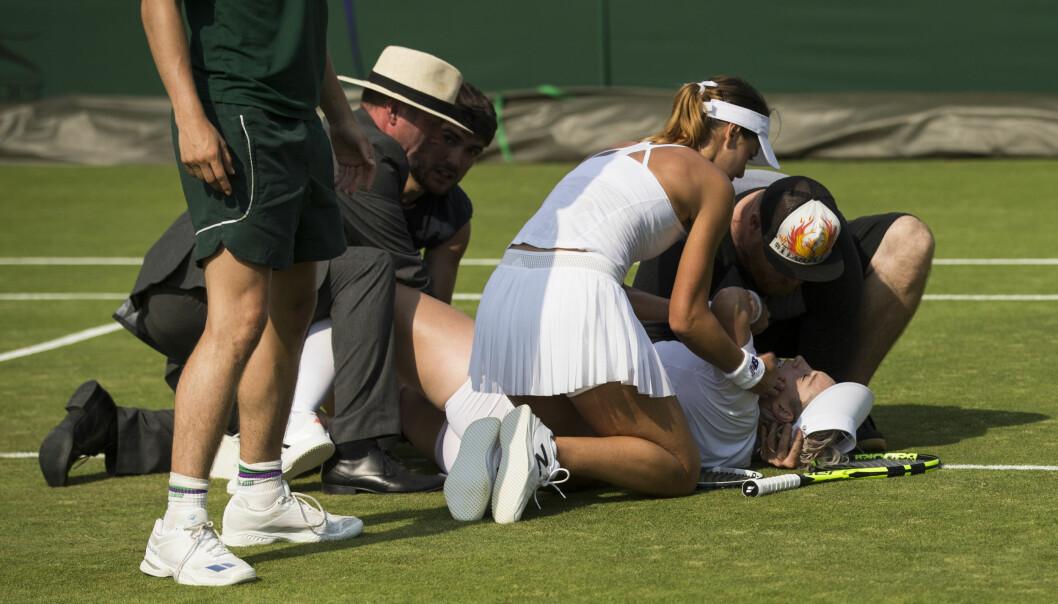 Ropene om hjelp sendte et grøss gjennom Wimbledon-publikumet: - Jeg fikk panikk
