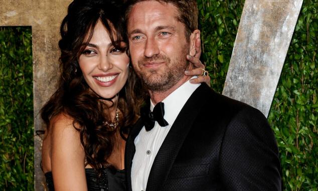 DEN FORRIGE EKSEN: Madalina Ghenea og Gerard Butler sammen på Vanity Fairs Oscar-fest i 2013. Foto: AP/ NTB scanpix