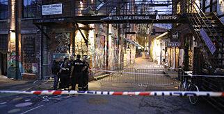 Oslo  20170709. Politet fikk melding om at fire personer skal være skutt på utestedet Blå i Oslo natt til søndag. Foto: Audun Braastad / NTB scanpix