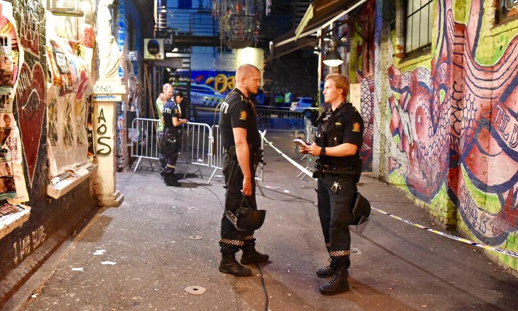 UTRYKNING: Store politistyrker ble i natt utkalt til åstedet. Foto: Ralf Lofstad / Dagbladet