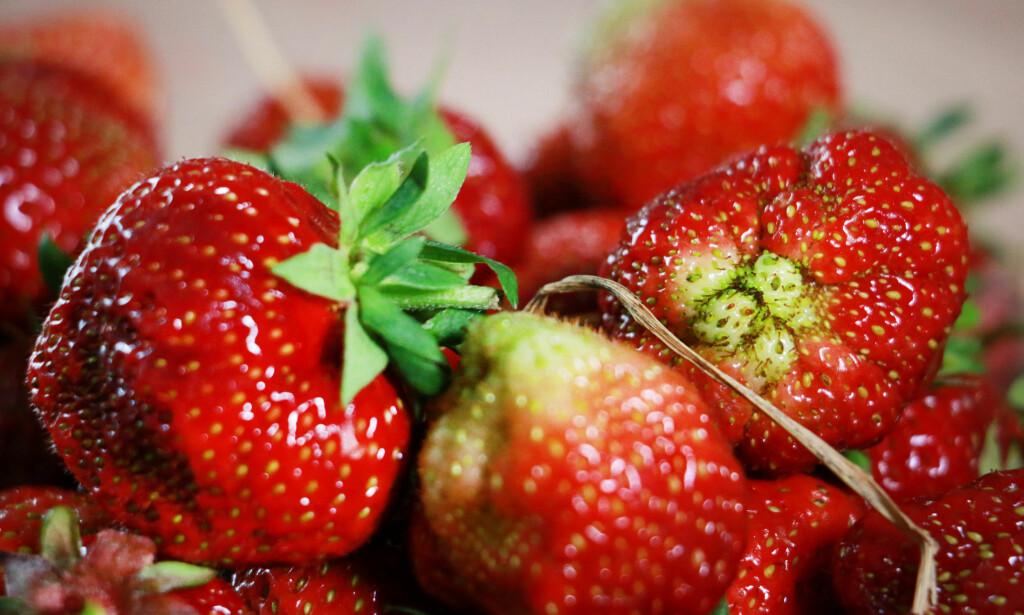 ANTALL BÆR: Extra-kurven inneholdt tilsammen 37 bær. Foto: Ole Petter Baugerød Stokke.