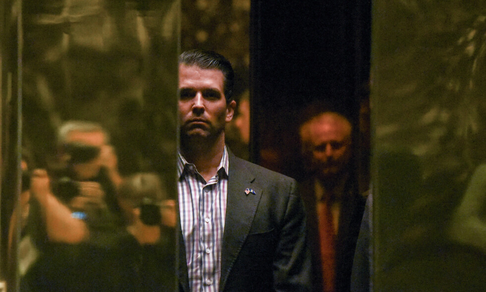 I HARDT VÆRT: Presidentsønn Donald Trump jr. Foto: REUTERS/Stephanie Keith/NTB Scanpix