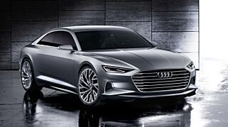 LIGNER KONSEPTET: Marc Lichtes konseptbil, Audi Prologue, fra 2014 har mange likheter med nye A8. Foto: Audi