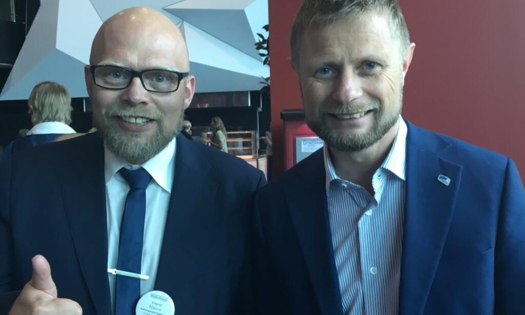 HONNØR: - Vi er veldig glade for det gode engasjementet til Erlend Eliassen, sier helse- og omsorgsminister Bent Høie. Foto: Privat