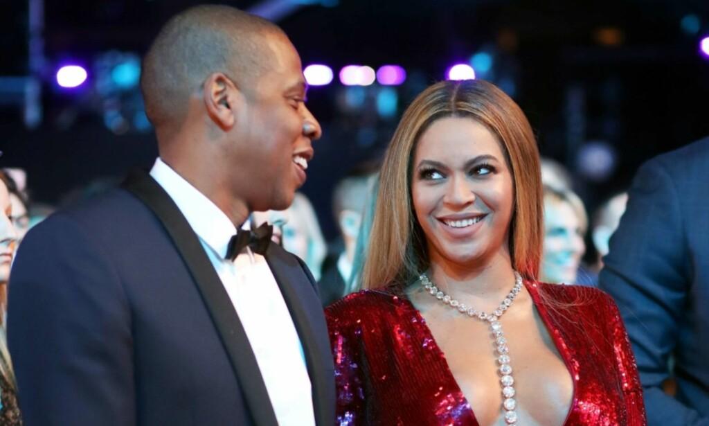 GIFT I NI ÅR: Jay-Z og Beyoncé er et av verdens mest berømte par. Nå åpner imidlertid førstnevnte opp om at også de har hatt sine utfordringer i ekteskapet. Foto: NTB Scanpix