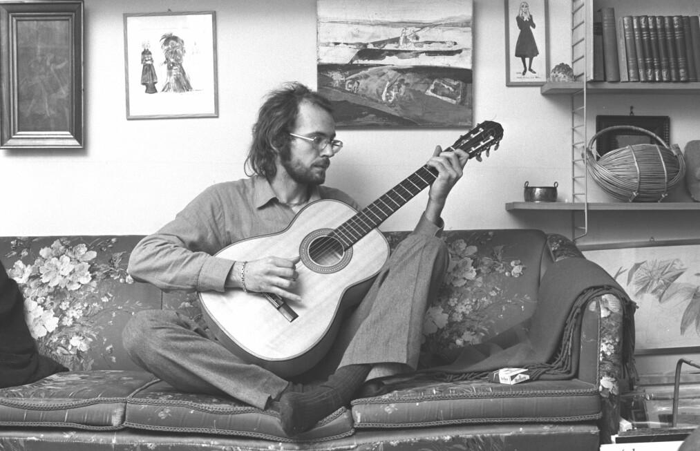 """70-TALLET: Teksten Ole Paus er nominert med, er hentet fra hans tredje album, """"Blues for Pyttsan Jespersens pårørende"""" (1974). Foto: NTB Scanpix"""