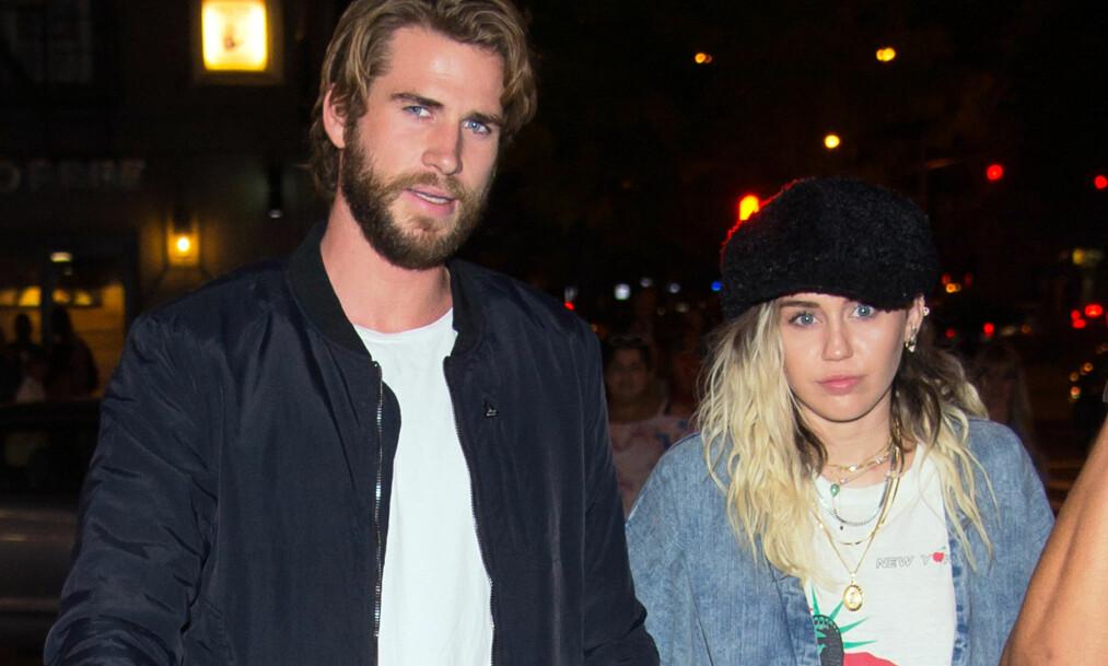 <strong><p>FULL KRANGEL:</strong> Liam Hemsworth og Miley Cyrus planlegger bryllup, men store problemer skal ha oppstått da popstjernen ville ha kjæresten til å signere en ekteskapskontrakt. Foto: NTB Scanpix </p>