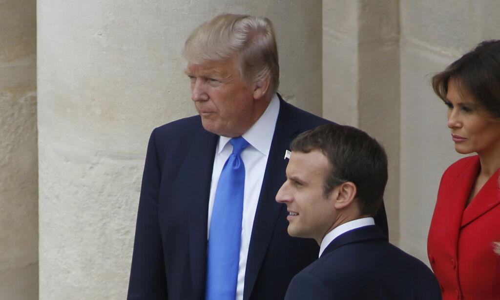 image: Trump til Brigitte Macron: – Du er i så god form. Vakker