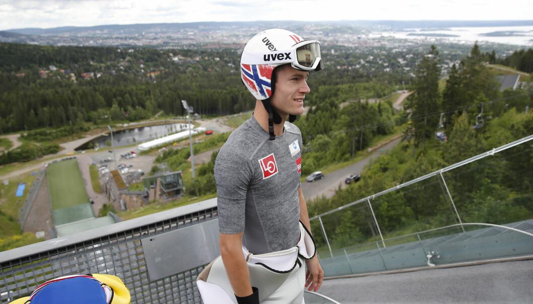 <strong>SKADEFRI:</strong> Kenneth Gangnes har slitt med skade i en lengre periode, men er nå tilbake i hoppbakken. Foto: Terje Bendiksby / NTB scanpix
