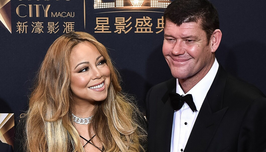 FIKK SJOKK: Mariah hadde brudekjolen klar da James Packer dumpet henne. Senere brant hun kjolen. Foto: NTB scanpix