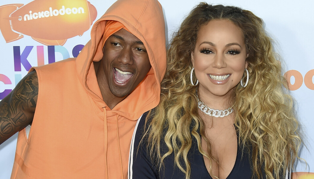 GODE VENNER: Mariah Carey og Nick Cannon er ofte å se sammen både privat og i offentlige sammenhenger. Her på rød løper under Kids' Choice Awards i mars. Foto: NTB Scanpix