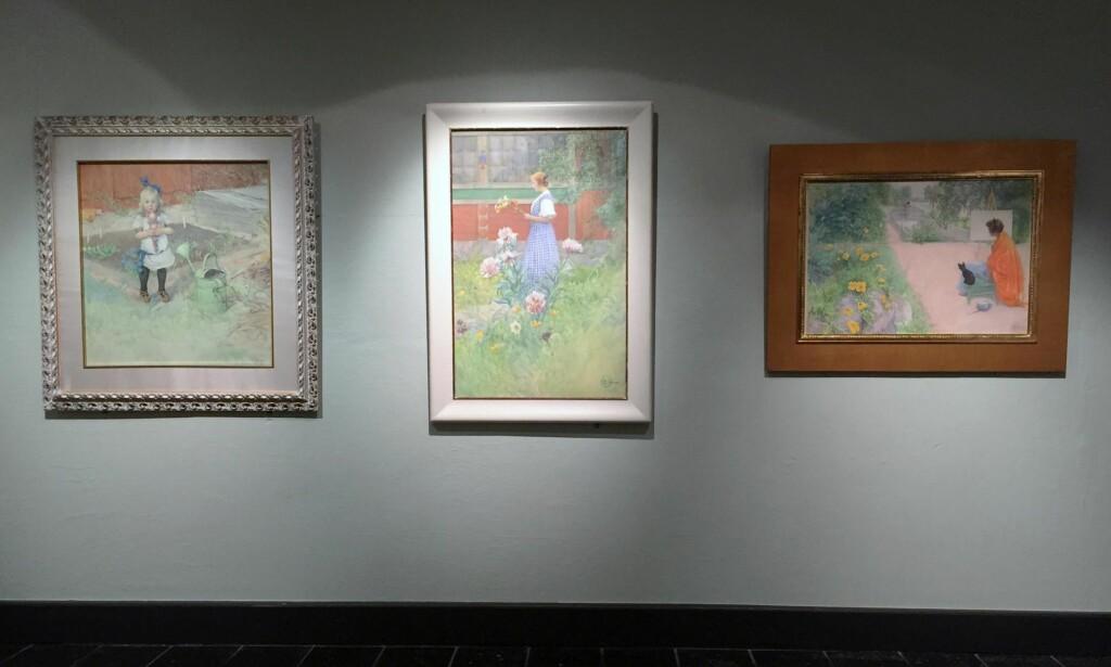 SÆREGEN ENER: Svenske Carl Larsson startet som en virtuos maler av landskaper og endte som et av de mest særegne kunstnerskapene i nordisk kunst. På Blaafarveverket kan du i sommer se flere av hans bilder i utstillingen «Drømmen om en hage». Foto: Arve Rød