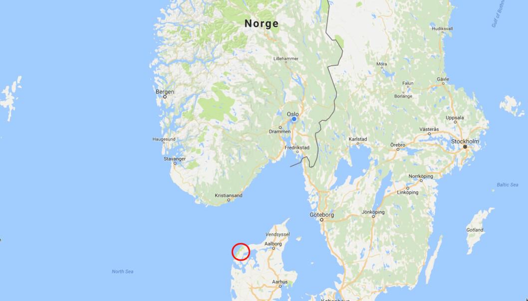 DEILIG Å VÆRE NORSK I DANMARK: Kronprinsparet la turen til campingplassen på vestsiden av Jylland. Foto: Google maps