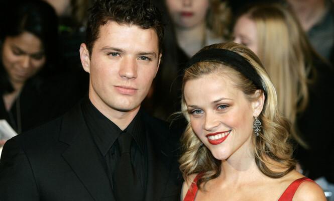 EKS-KONA: Ryan Phillipe og Reese Witherspoon traff hverandre på hennes 21-årsdag i 1997. Året etter forlovet de seg og sommeren 1999 ga de hverandre sine ja. Foto: NTB Scanpix