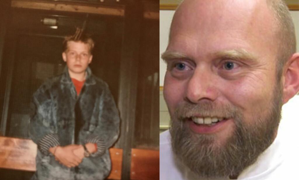 GLEMMER ALDRI: - Gleden over å lykkes blir desto størrer når man har en brokete fortid som barn, sier Erlend Eliassen - her som 13-åring og i dag. Foto: Privat