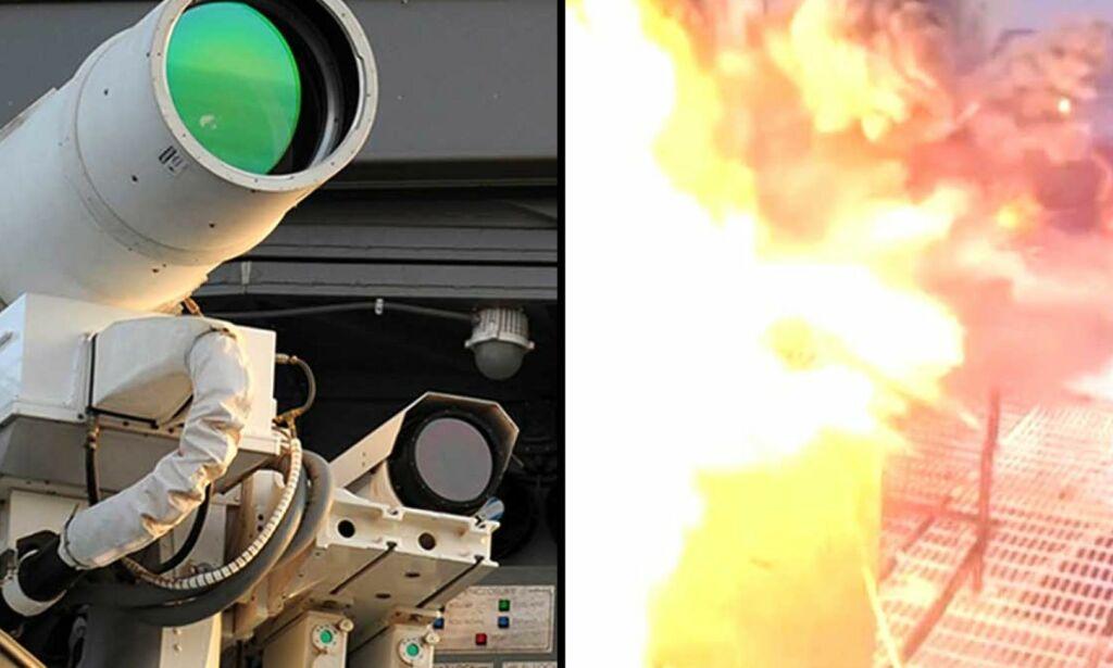 image: Her tester USA monsterlaseren som kan være framtidas våpen