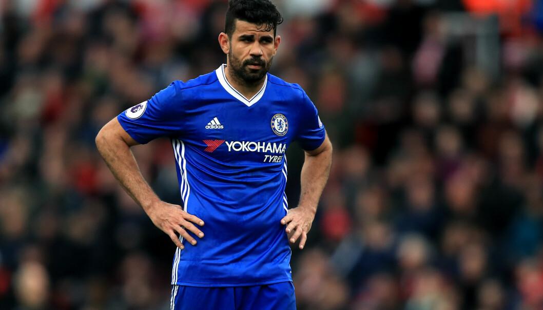 <strong>IKKE MED:</strong> Diego Costa er blant spillerne som ikke får være med på Chelseas Asia-tur. Spissen har ytret et ønske om en overgang bort fra klubben. Foto: NTB Scanpix