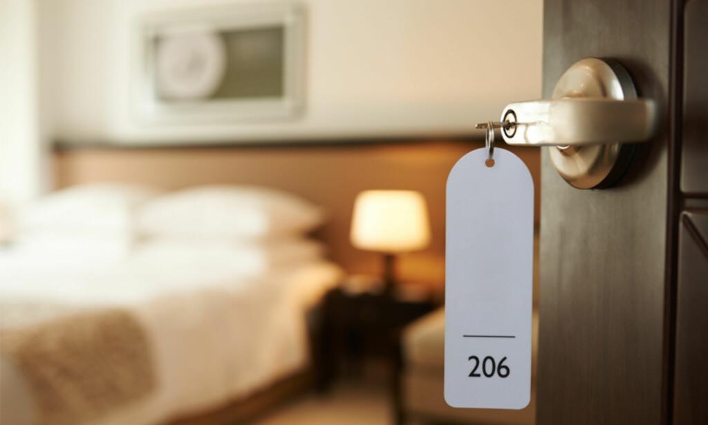 OVERNATTING: Et skittent hotellrom kan ødelegge ferien, i det minste tildels. Sjekk våre råd for å unngå problemet. Foto: Shutterstock/NTB Scanpix