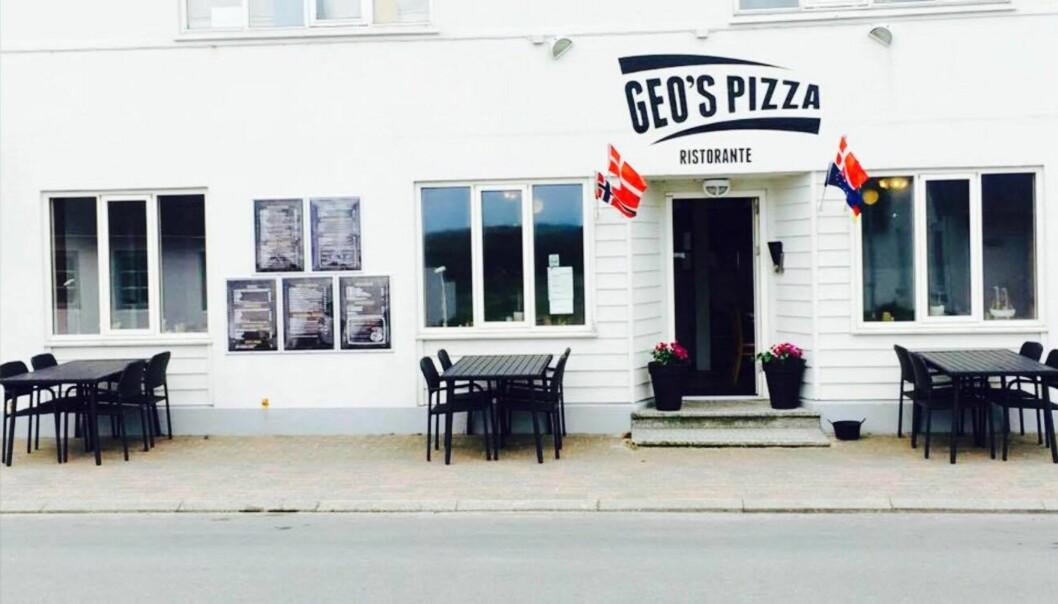 SPISTE HER: Kronprinsfamilien koste seg på Geo's Pizza i Klitmøller. Foto: Geo's Pizza